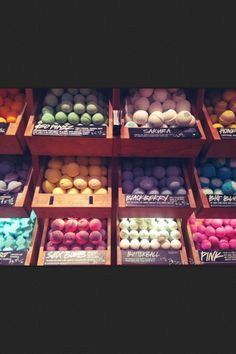 lush bath balls - they make your bath really cool colors, smell great, and are all under $10