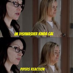 Alex Vause Piper Chapman Vauseman OITNB haha this one makes me laugh, their expressins :-p