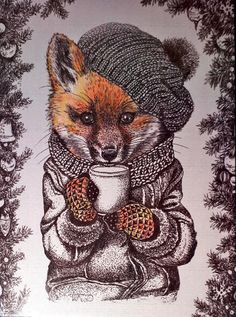 Arts And Crafts Beer Parlor Code: 1709531032 Animal Drawings, Cute Drawings, Art Fox, Fuchs Baby, Fantastic Fox, Art Mignon, Photo D Art, Art Et Illustration, Cute Art