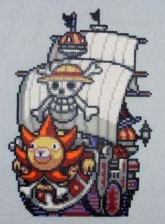 Thousand Sunny One Piece perler bead sprite by MakuTechInd on deviantart