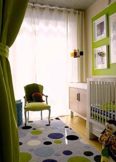 bright green baby nursery color scheme