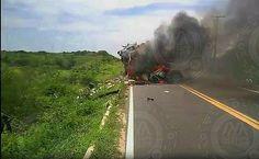 Após colisão motorista fica preso às ferragens e morre carbonizado na CE-138 que liga Cascavel: ift.tt/2kr2jPL