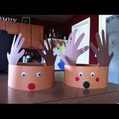 Kids reindeer hats DIY