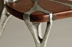 I Make Unique Furniture By Pouring Cast Aluminum Onto Wood |...