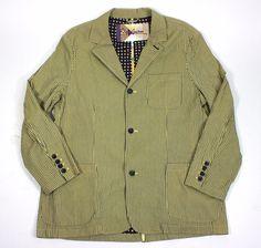 Robert Graham Jacket XL Lightweight Cotton Navy Yellow Long sleeve men's jacket #RobertGraham #BasicJacket