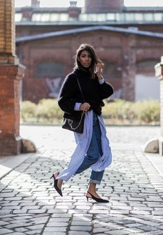 Storm Wears Chloé Faye Bag Black with COS Knitwear Vintage Mom Jeans and Ganni Slingbacks pictures by Thestyleograph Theadorabletwo