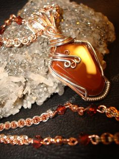 SALE Lake Superior Agate Necklace by superioragates on Etsy, $40.00