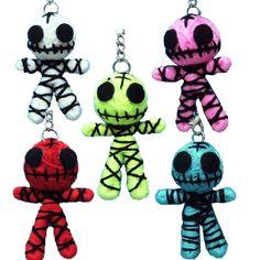 "Cute Ghost String Voodoo Dolls Keyring Keychain Handmade Lot of 5 Colors Tall 2"" | eBay"