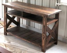 Rustic Media Console TV Stand Rustic Farmhouse Media Table Handcrafted Solid Wood Furniture C - TV Stands - Ideas of TV Stands Rustic Farmhouse Furniture, Farmhouse Chairs, Farmhouse Tv Stand, Modern Farmhouse, Rustic Wood Tv Stand, Country Farmhouse, Solid Wood Tv Stand, Farmhouse Interior, Furniture Projects