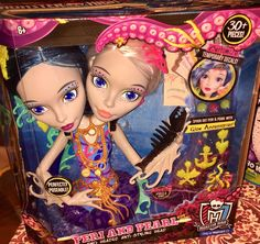 MONSTER HIGH PERI AND PEARL SERPENTINE TWO HEADED ANTI STYLING HEAD NEW Doll  | eBay