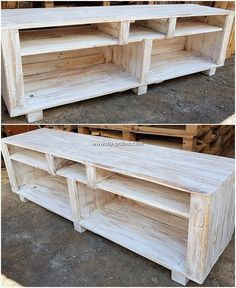 We are up with another amazing idea with this rehashed wood pallet as introducing with the setting media table work. This will let you help up with the good arrangement of the media accessories for your house. It is durable added with superior wood work in it.