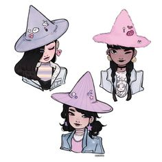 some casual witches to go with the Gucci witches I did some time ago I keep losing track of all the unfinished ( or finished )wips I accumulated haha,but anyway hope y'all have a great day/night! • • • #illustration #witch
