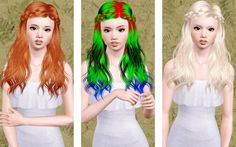 Skysims's 186 hair retextured by Beaverhausen - Sims 3 Downloads CC Caboodle