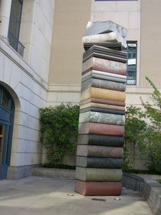 book sculpture - Public Library, Nashville, TN