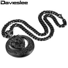 Buy Davieslee Men's Jewelry Lion Head Knot Gold/Silver Stainless Steel Pendant Necklace Chain at Wish - Shopping Made Fun Lion Necklace, Necklace Chain, Pendant Necklace, 316l Stainless Steel, Men's Jewelry, Knots, Silver, Gold, Necklaces