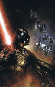 Darth Vader/Star Wars painting PRINT by Nick Runge, in Dave Kopecki's Nick Runge art (paintings & inks) *nudity* Comic Art Gallery Room Darth Vader, Anakin Vader, Star Wars Darth, Anakin Skywalker, Star Trek, Film Mythique, Batman Christian Bale, Top Imagem, Millenium
