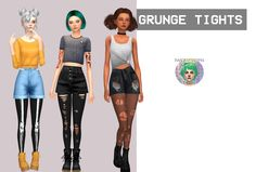 GRUNGE TIGHTS by Twinksimstress 20 different swatches Maxis match? Custom thumbnail