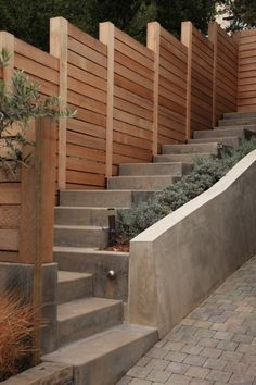 fence for a steep slope - Google Search