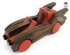 Bois rouge Bat voiture jouet naturel fait à la par WoodHandcraft