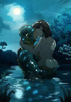 The Shape Of Water, Furry Wolf, Legendary Creature, Fish Man, Man Child, Itachi, Amazing Art, Anime Characters, Fantasy Art