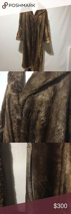 GARTENHAUS VINTAGE SHEARED RACCOON COAT Seam is coming out at the inside pocket. Great used condition. Gartenhaus Jackets & Coats