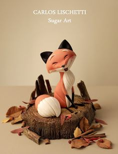 Carlos Lischetti     The Happy Fox. I love the creations of Carlos Lischetti.  He achieves so much in a deceptively simple way.
