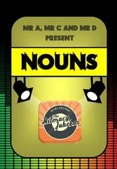 "FREE Nouns Song by Mr A, Mr C and Mr D Present taken from ""The Literacy Jukebox"" available on the App Store. Learn all about nouns with Mr D and his class in this fantastic sing-a-long ballad! 1 x Nouns Song 1 x Nouns Instrumental 1 x Nouns Lyrics A noun is an idea, Person, place or thing, Lets hear you sing!"