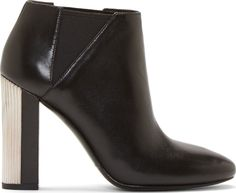 Pierre Balmain - Black Ribbed-Heel Ankle Boots