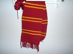 Gryffindor scarf I'm knitting for myself US 8 Needles Simply Soft - Autumn Red Red Heart - Gold Started June Harry Potter Scarf, Soft Autumn, Knitting, Red, Sweaters, June, Heart, Dresses, Fashion