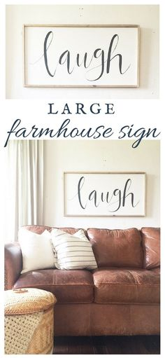 Make a large farmhouse sign yourself!  Its an easy way to bring the farmhouse style to your home, and it is inexpensive too!
