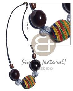Round Wood Beads In Crochet Black Kukui Nuts/wood Beads Combination Wood Necklace Shell Jewelry, Shell Necklaces, Stone Jewelry, Natural Accessories, Fashion Accessories, Fashion Jewelry, Wood Necklace, Beaded Necklace, Handmade Crafts