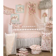 Cotton Tale Tea Party 7-piece Crib Bedding Set