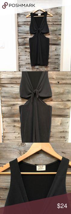 Project Social T Tie Dress Dark grey tie dress, Small, NWOT Project Social T Dresses
