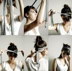 Maiko Nagao: DIY: T-shirt headband