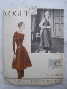 Make and wear this today, right in fashion....Vogue 1316 by Jacques Griffe
