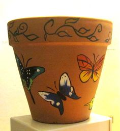 Decided to add a little color to my flower pots. This is the butterfly one.