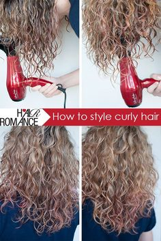 Hair Romance - How to style curly hair. Also, 10 tips for how to wash your hair.// I did this and my hair DID look more natural. I'm just not sure if I'll do it everyday.