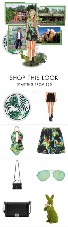 """""""Animal Kingdom ● Disneyland"""" by annynavarro ❤ liked on Polyvore featuring Haze, Disney, CO, Understated Leather, Blue Man, Marc Jacobs, Yves Saint Laurent, Victoria Beckham, Chanel and INC International Concepts"""