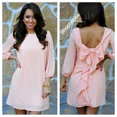 Peach bow dress... need I say anything else? Thanks, Shop Hope's!
