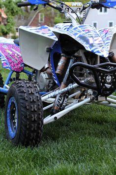 the only BS in my life = my bike & shoes Quad Bike, Atv Quad, Atv Motocross, Harley Gear, Pink Bike, Custom Muscle Cars, Atv Four Wheelers, Big Rig Trucks, Fox Racing
