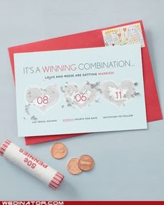 /Scratch Off Save the Dates. Live this idea!                                                                                                                                                      More