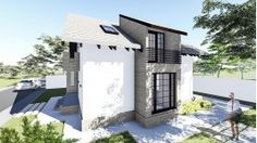 Proiect casa Parter + Mansarda 130 m2 - Aora