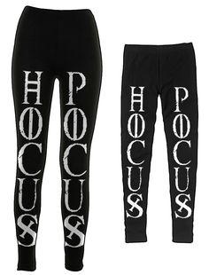 Hocus Pocus - Leggings   Black Craft