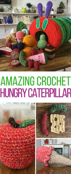 This hungry caterpillar is totally adorable! Can't believe he's a crochet pattern!