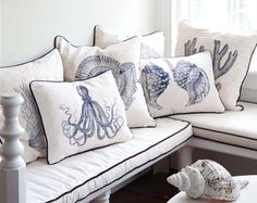 coastal beach pillow collection