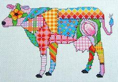Cross Stitch Patchwork Cow Pdf Instant Download par Chartsandstuff