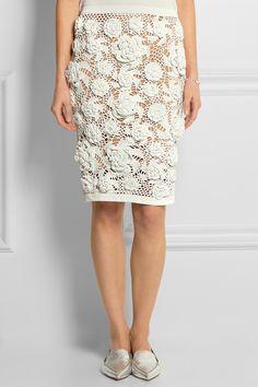 Sibling|Crocheted pencil skirt|NET-A-PORTER.COM