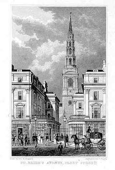 St Bride's, Fleet Street by Wren. A few generations married and got baptised here.
