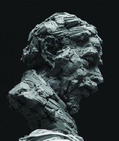 A portrait, title unknown, by Dutch sculptor Dennis Conrad Sculpture Head, Stone Sculpture, Sculptures, Sculpture Portrait, Ceramic Sculpture Figurative, Dutch Artists, Female Art, New Art, Amazing Art