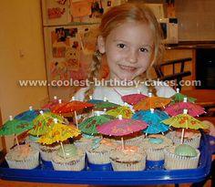 ocean beach, birthday parti, beachi cupcak, birthday cupcake ideas, umbrella, birthday cupcakes, beach themes
